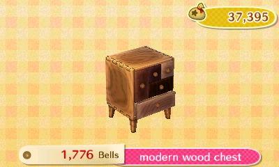 Modern Furniture Animal Crossing New Leaf modern wood chest | new leaf hq