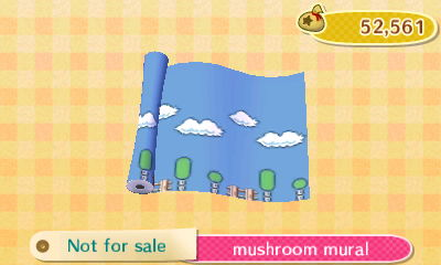 Mushroom mural new leaf hq 7 for Animal crossing mural